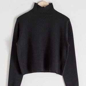 Cropped Relaxed Fit Knit Turtleneck NWT